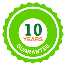 10 year guarantee on all wooden posts