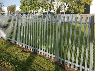 Metal industrial security fencing installed in Corby