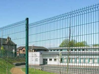 substantial green mesh wire fencing installed in corby northamptonshire