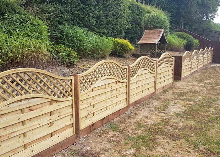 after installation of a 3 foot tall residential fence along a back garden in corby northamptonshire