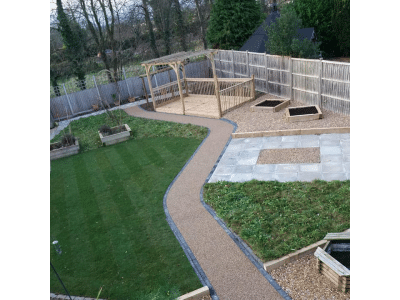 ariel view of fencing installation in kettering