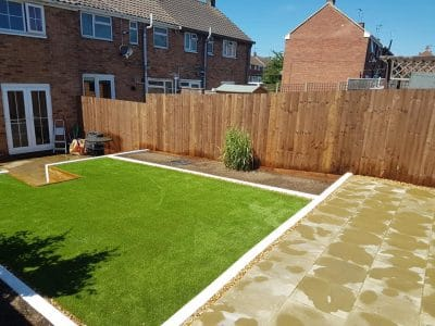 six foot tall fence with brown varnish for weathering protection new garden style in corby